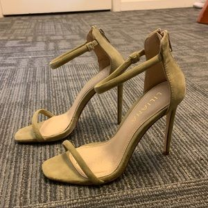 olive green strappy heels